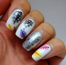 nails by ms lizard born pretty store colorful feather nail art