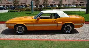 1969 mustang orange grabber orange 1969 ford mustang shelby gt 500 convertible