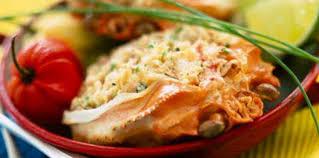 cuisiner crabe crabes farcis au gratin recette sur cuisine actuelle