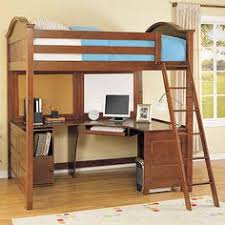venetian hayden twin loft bed over workstation espresso things