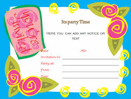 how to make a birthday invitation on word birthday party