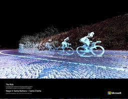 beautiful motion activated images of cyclists created microsoft