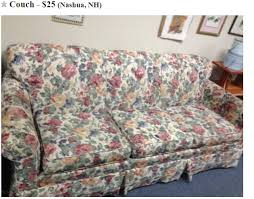 Floral Couches New Hampshire U0027s Ugliest Furniture For Sale On Craigslist