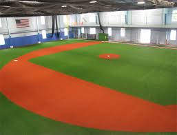 Basement Batting Cage by Artificial Turf For Indoor Sports Facilities On Deck Sports
