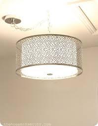 Decorative Pendant Light Fixtures Lighting Design Ideas Large Metal Drum Pendant Light Fixture