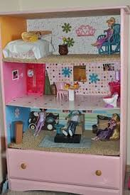 Doll House Plans Barbie Mansion by Turn An Old Dresser Into A Dollhouse Keeping The Bottom Drawer