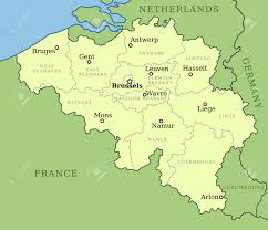 belgium city map belgium map with administrative division into provinces brussels