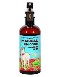 shitting glitter magical unicorn lavatory mist blue q bath