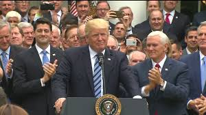 president trump celebrates passage of house republican health care