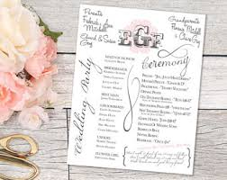 print your own wedding programs printable wedding program wedding programs print your own