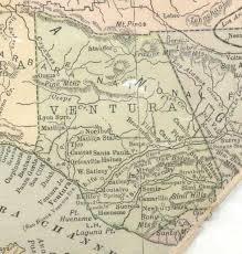 ventura county map ventura county cagenweb project