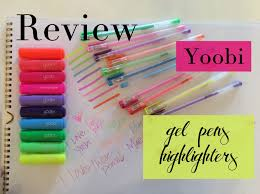 filofax supplies review swatches new yoobi gel pens