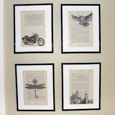 harry potter book page art upcycled book page art by kariannkelly
