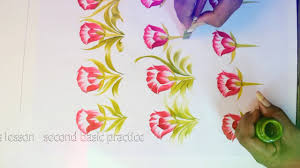 Painting Designs Free Painting Basic Saree Flower Design Composition More