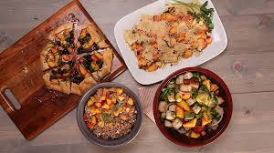 peach and feta bulgur salad
