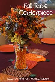 fall centerpieces with corn 30 days of thanks