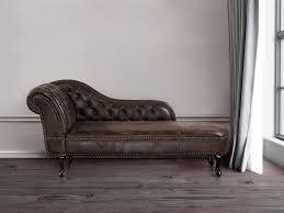Tufted Chaise Lounge Tufted Chaise Lounge Glossy Brown Nimes