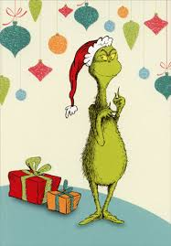 grinch with presents dr suess christmas card by image arts
