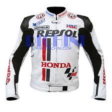 white motorbike jacket buy it now honda repsol white race motorbike leather jacket