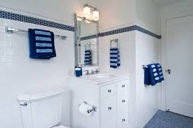 Royal Blue Bathroom Accessories Penny Round Tile Bathroom Traditional With Arched Windows Bathroom