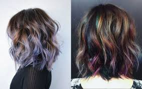 Dark Hair Colors And Styles Oil Slick Hair Colors Pastel For Brunettes Hairstyles