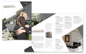 contemporary u0026 modern real estate brochure template word u0026 publisher