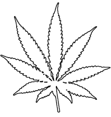 weed leaf coloring pages clipart best weed tattoo outline