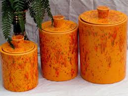 orange kitchen canisters ceramic ceramic kitchen canisters