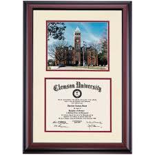 clemson diploma frame clemson premier tillman photograph diploma frame diploma