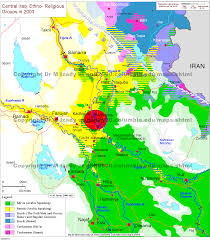 Political Map Of The Middle East by The Gulf 2000 Project Sipa Columbia University