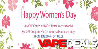 s day sales 3avape and efun women s day 2018 sales vape deals