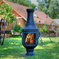 Cooking On A Chiminea The Blue Rooster Venetian Style Aluminum Wood Burning Chiminea