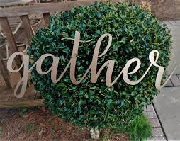 gather sign farmhouse decor shabby chic rustic sign wall
