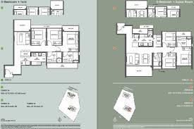 3 Bedroom Condo Floor Plan by Clement Canopy Floor Plan The Clement Canopy Brochure Floor Plans