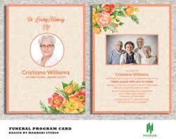 Funeral Card Template Funeral Announcement Etsy