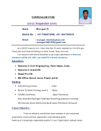 Qa Qc Inspector Resume Sample Civil Qa U0026qc Inspector Updated Resume