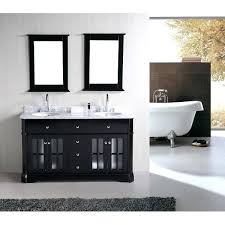60 Inch White Vanity Modero Chilled Gray 60 Inch Double Vanity Only60 Sink Without Top