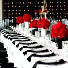 black and white table settings black white and red wedding centerpieces black white and red wedding