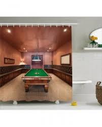 Pool Room Decor Room Decor Curtain Pool Table Billiard Print 2 Panel Window Drapes