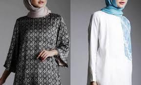 gambar model baju batik modern gambar model baju batik kantor wanita berjilbab modern terbaru