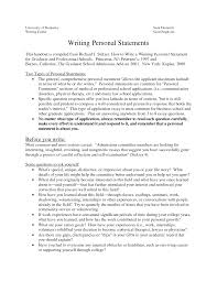 Resume Personal Statement Examples Awesome Collection Of Sample Of Personal Statement For Graduate