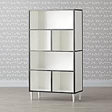 White Tall Bookcase Danish Modern Walnut U0026 White Tall Bookcase The Land Of Nod