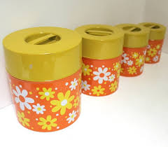 funky kitchen canisters 63 best canisters images on vintage kitchen retro