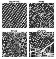 Boston Vs New York Map by Square Mile Street Network Visualization Geoff Boeing
