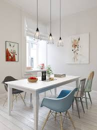 White Wood Dining Room Table by Long Kitchen Table At Rustic Dining Table Artsitic White Pendant