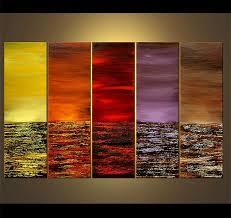 original abstract modern landscape made colorful modern landscape abstract original acrylic painting