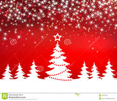 christmas red sparkle vector background with tree royalty free