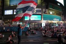 Thailand Round Flag Down And Out In Thailand