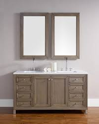 60 Inch White Vanity James Martin Chicago Double 60 Inch Transitional Bathroom Vanity