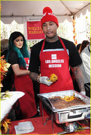 jenner tyga feed the hungry together before thanksgiving